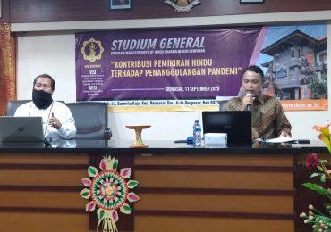 Studium General Prodi Brahma Widya Pascasarjana UHN IGB Sugriwa Denpasar di Masa Pandemi Covid-19